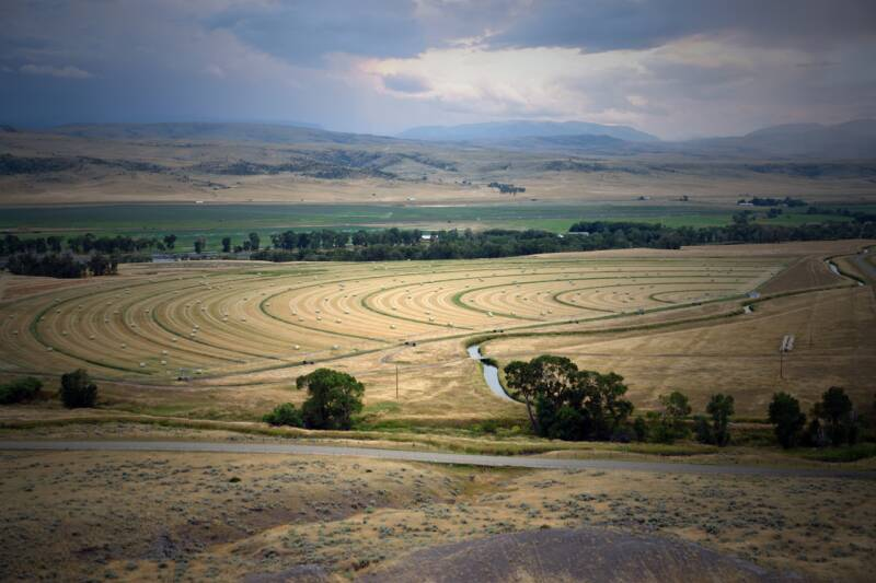 Farmland at this Montana ranch for sale